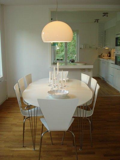 White Kartell Fly - over dining table