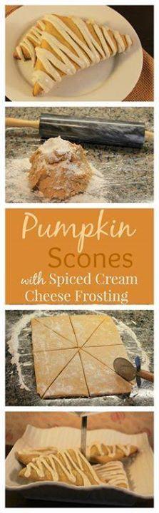 A delicious Pumpkin A delicious Pumpkin Scone smothered in a...  A delicious Pumpkin A delicious Pumpkin Scone smothered in a Spiced Cream Cheese Frosting! The perfect Fall treat! Recipe : http://ift.tt/1hGiZgA And @ItsNutella  http://ift.tt/2v8iUYW