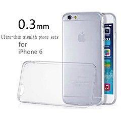 ultramince silicone transparent couverture arrière pour l'iphone 6s 6 plus