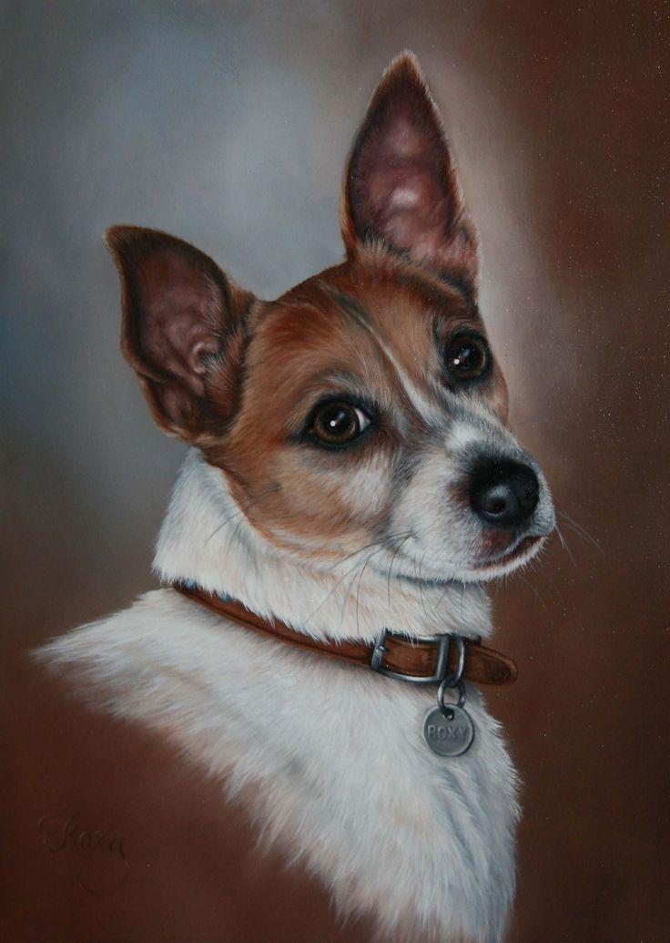Roxy #FoxTerrier #PetPortrait #DogPainting