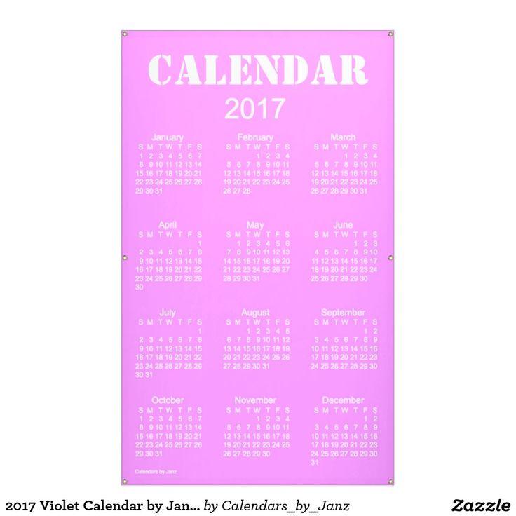 2017 Violet Calendar by Janz Banner