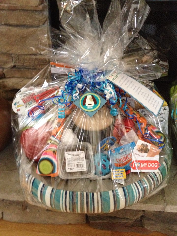 Dog theme basket for auction