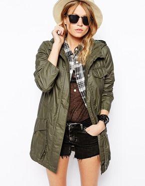 Ok this is the last Park Pin. ASOS Lightweight Rain Parka with Patch Pockets