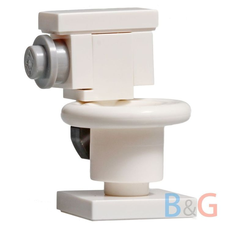 Lego City/Train Minifig White TOILET Girl/Boy Minifigure Bathroom Loo #LEGO