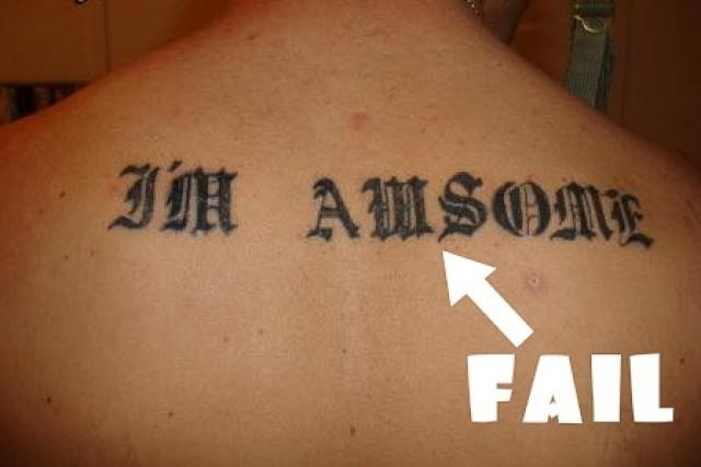 Too bad the player that inked you flunked spelling!