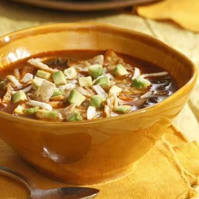 Vegetarian tortilla soup...low fat, low carb