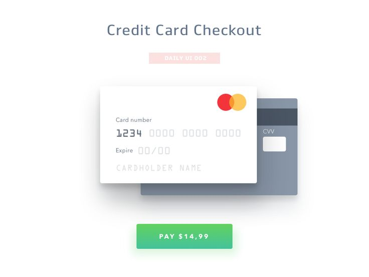 Credit Card Checkout – Daily UI #002