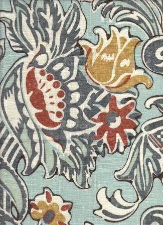 Keeley Sky - www.BeautifulFabric.com - upholstery/drapery fabric - decorator/designer fabric