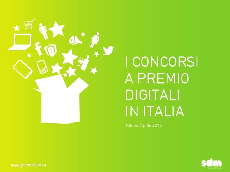 i-concorsi-a-premio-digitali-in-italia-redemption-e-benchmark by SdM Srl interactive passion via Slideshare