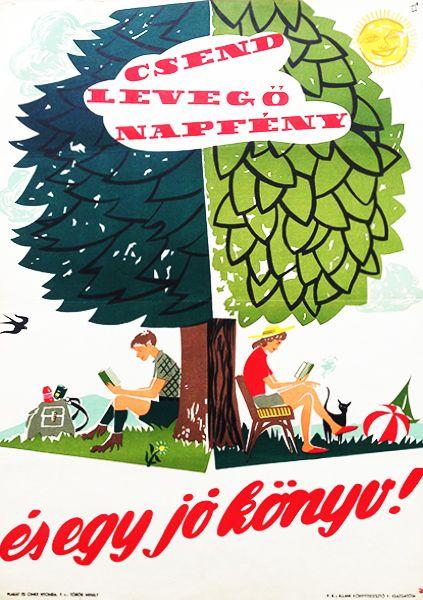 Silence, fresh air, sunshine...and a great book! / Csend, levegő, napfény...és egy jó könyv! 1958