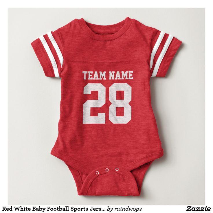 Roter weißer Baby-Fußball trägt Jersey-Spielanzug Shirt
