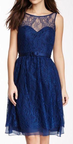Navy Lace Dress ♥