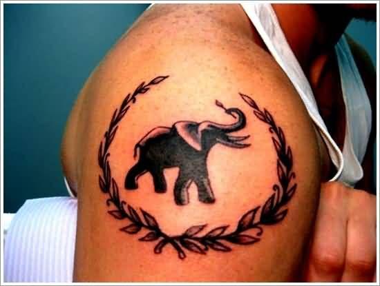 Crazy Sweet Baby Elephant Tattoo Design Make On Thigh | Tattooshunter ...