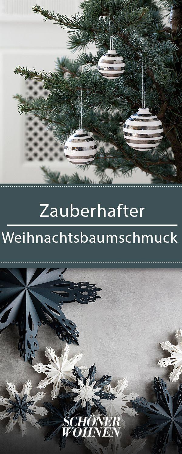 Weihnachtsbaumschmuck: Ideen aus Holz, Glas, Papier, Metall ...
