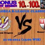 Prediksi Bola Chunnam Dragons vs Busan I Park 21-09-2014 KOREA K-LEAGUE CLASSIC