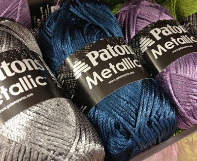 Patons Yarn : ... colors and it works up pretty as well. Patons Shiny Metallic Yarn
