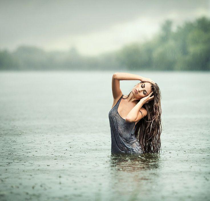 Надписью, картинки природа дождь девушка