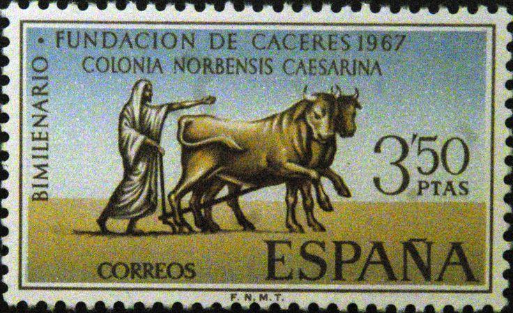 Sellos - Bimilenario Fundacion de Cáceres 1967