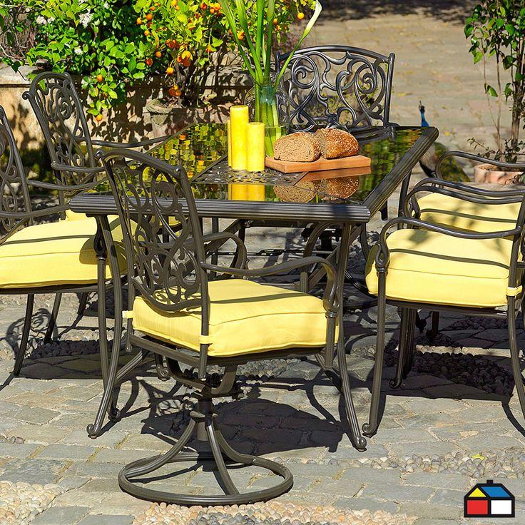 Juego #terraza Granada de aluminio con cojines 7 piezas #Jardin