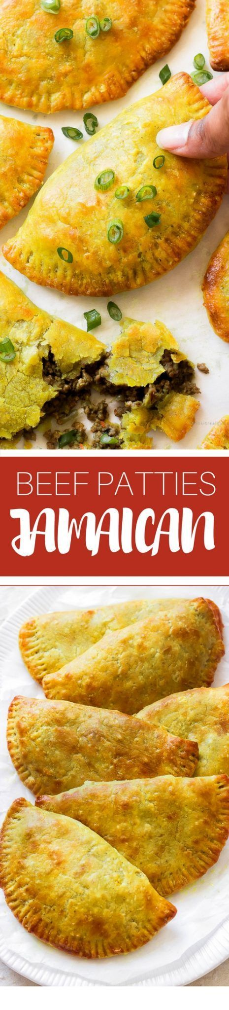 Thin, flaky and buttery yellow crust with a mighty seasoned meat filling. Make a big batch because these Jamaican beef patties will disappear fast!