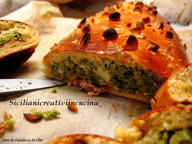 Strudel di pan brioche ai broccoletti