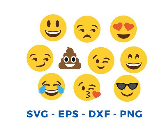 Emoji SVG Collection - Emoji Clipart - Smiley faces svg - Emoji Svg Files  for Silhouette Cameo or Cricut