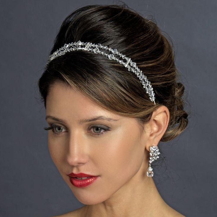 Double Wedding Headband with Swarovski Crystals - simply elegant! affordableelegancebridal.com