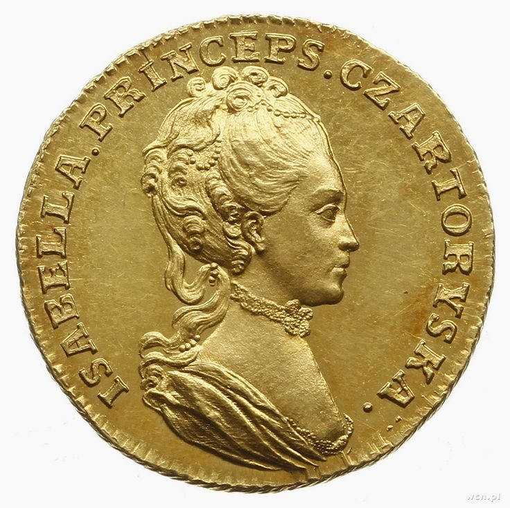 Obverse of the medal of Izabela Czartoryska by Johann Fhilip Holzhäusser, 1772, Private collection