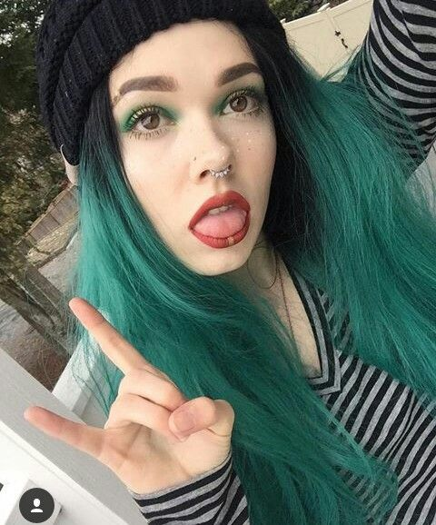 """[ fc: billie dawn webb ] """"hey!"""" i smile. """"i'm billie. i am seventeen and single. i'm also bisexual. i have a youtube channel. i like dying my hair. alex is my best friend. so yep. intro?"""""""
