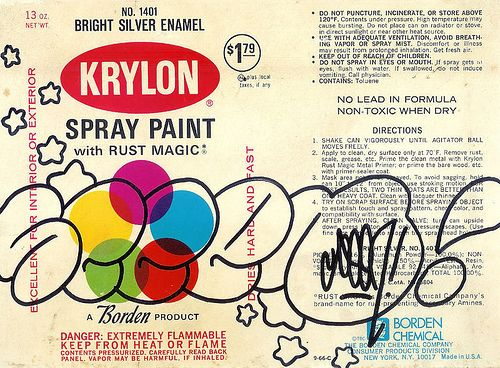 SEEN THROW UP ON KRYLON CAN LABEL