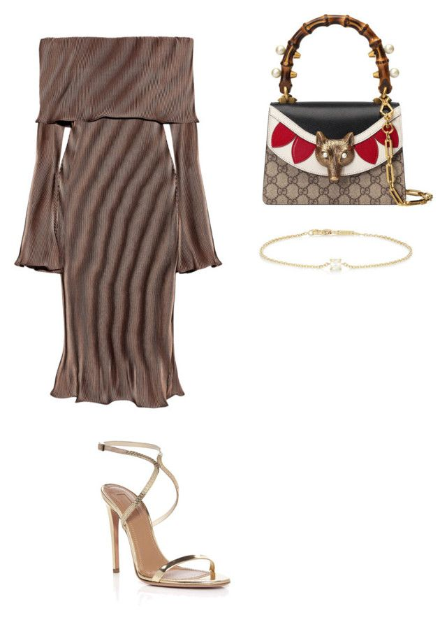 by aryannarose-1 on Polyvore featuring polyvore fashion style Beaufille Aquazzura Gucci Anita Ko clothing