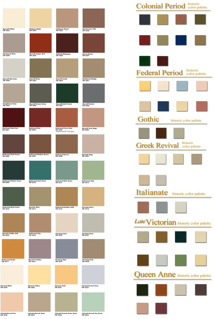 2119 3160 vintage color for Home outside palette