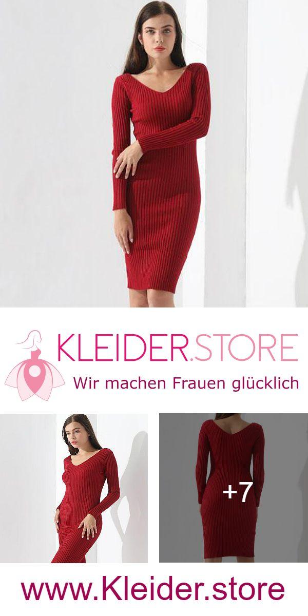 super popular 22b23 edb13 Strickkleid Rot günstig Online kaufen – jetzt bis zu -87 ...