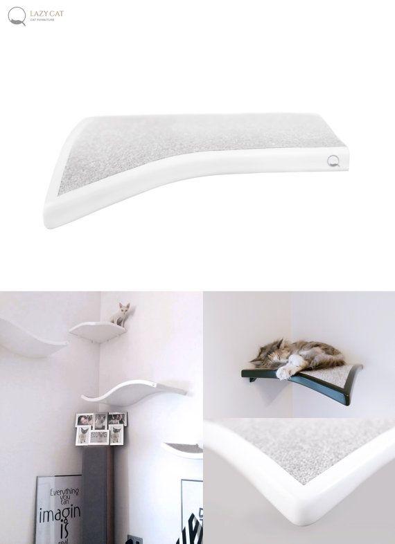 Corner Shelf Leaf,  cat perch, cat shelves, pet design, cats shelves, cat furniture, cat bed, wall shelf