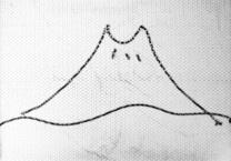 画:富士山 筆:こども店長