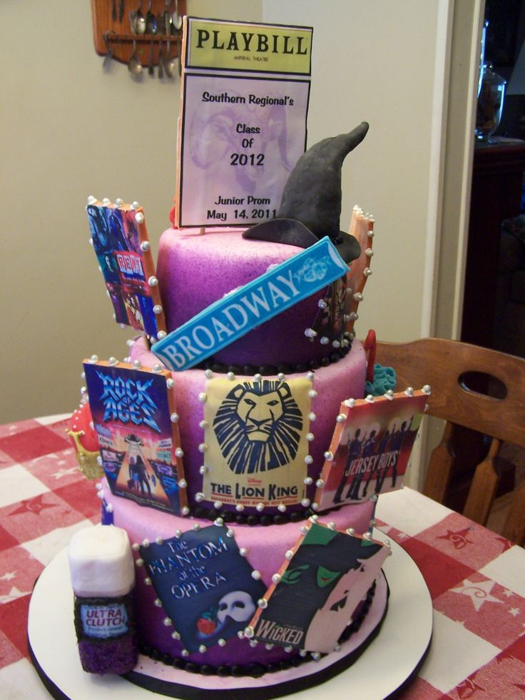 Broadway Fun - This was done for a Broadway Themed party.  It was alot of fun to make.  All the 3-D features are rice ceral treats.