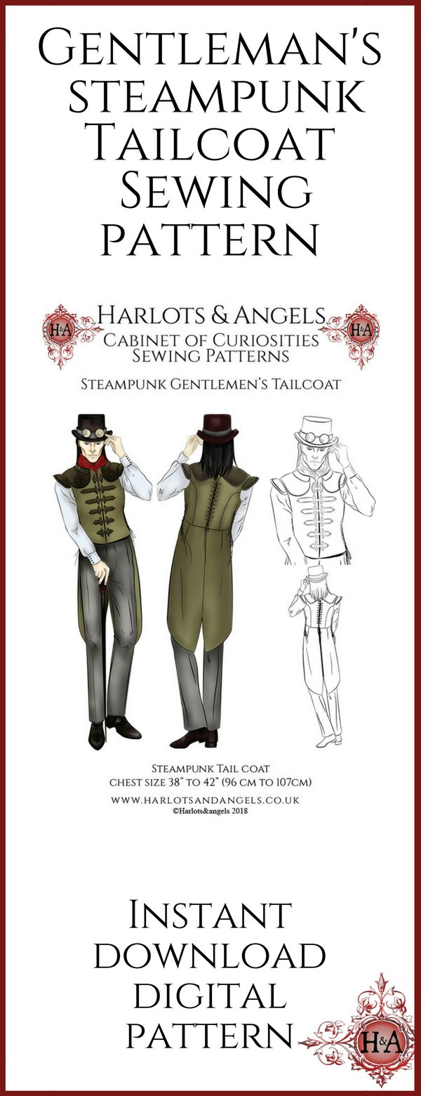 23 best Steampunk sewing patterns Digital Downloads images on ...