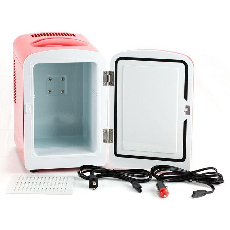 Amazon.com: Felji Portable Mini Fridge Cooler and Warmer Auto Car Boat Home Office AC & DC Red: Appliances