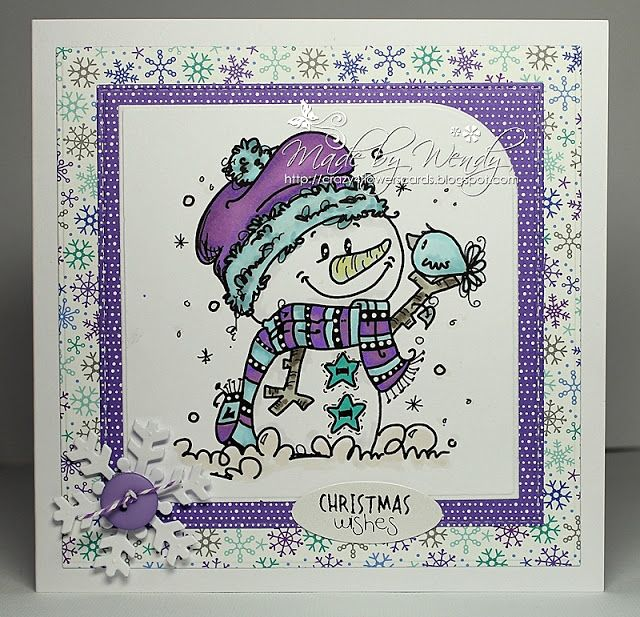 Crazy4flowers cards: Bugaboo Stamps - Snow Friends