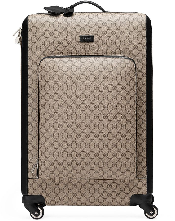 b452b6e6666f GG Supreme suitcase in 2019 | Bag-luggage | Gucci travel bag ...