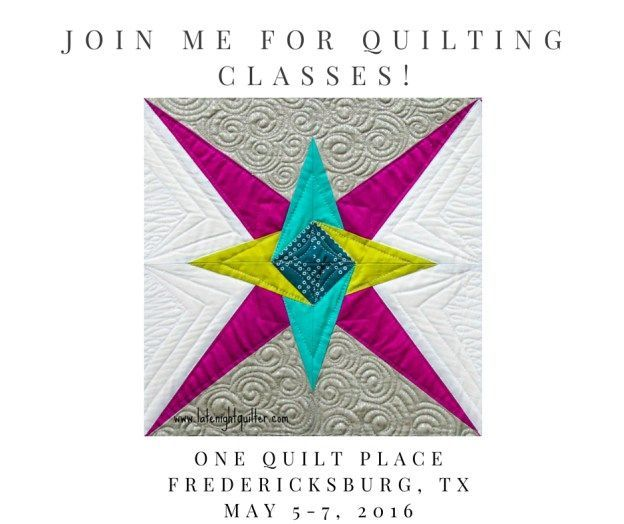 Join Me for Quilting Classes
