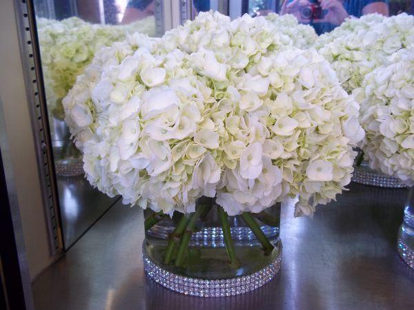 Best ideas about white hydrangea centerpieces on