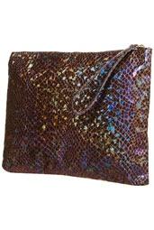Loving the metallic, mermaid-like shine. #Topshop: Zip Tops, Topshop Usa, Price 40 00 Colors Purple, Mermaid Holographic, Embellishments Tops, Clutches Price4000, Clutches Bags, Holographic Zip, Tops Clutches