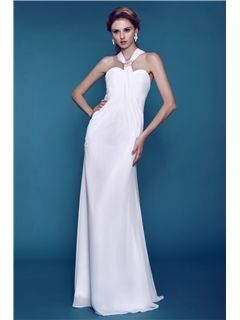 $ 90.89 Plain Column/ Sheath Beaded  Beach Wedding Dress