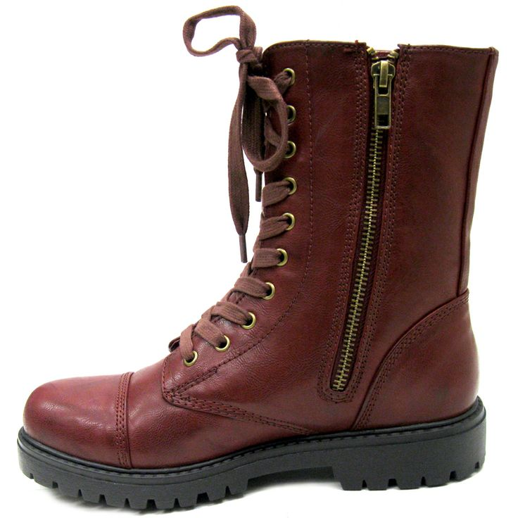 Best Design Madden Girl Combat Boots - would look great in black or brown as well