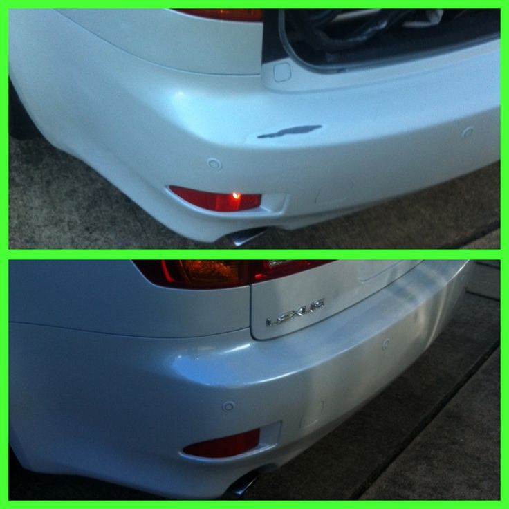 how to fix deep scratches on car bumper