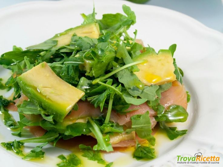 Salmone affumicato con avocado e rucola #ricette #food #recipes