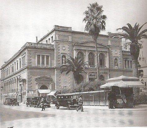 Το Δημοτικό θέατρο στη Πλατεία Κοτζιά. έργο του Τσίλερ. (1888 - 1940 ).