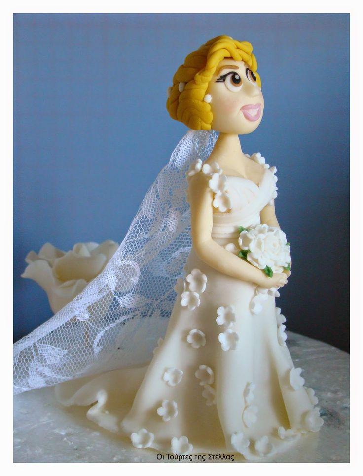 Stella's Κουζινομπερδέματα: Τούρτες με Ζαχαρόπαστα Fondant Bride http://stellamark.blogspot.com/p/blog-page_18.html