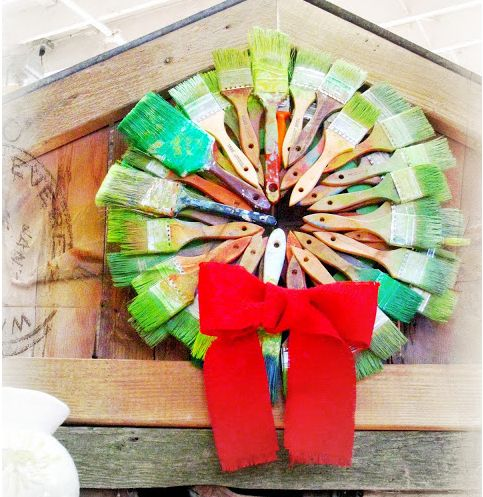 Paintbrush Christmas Wreath